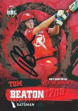 ✺Signed✺ 2015 2016 MELBOURNE RENEGADES Cricket Card TOM BEATON Big Bash League