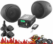 MCBK520B BOSS MOTORCYCLE 600 Watt Amplifier & 2 Speakers USB,SD,AUX,Bluetooth em
