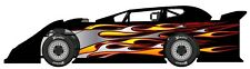RACE CAR WRAP, FLAMES Graphics, Decals, IMCA Late Model Dirt