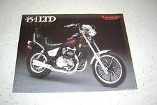 1986 Kawasaki 454 Ltd EN450 - A2, NOS Sales Brochure 2 Pages.