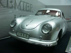 WOW EXTREMELY RARE Porsche 356 Coupe 1950 Silver 1:18 Signature NOT Auto Art
