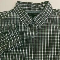 Banana Republic Men's Button Up Soft Wash Shirt XL Slim Fit Plaid Green Pink