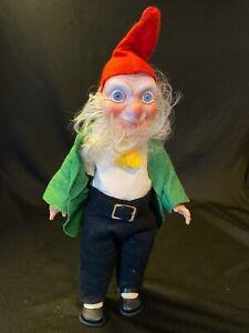 Vtg Rubber Face Elf Gnome Crolly Larry the Lucky Leprechaun Doll Figure Ireland