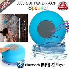 NEW WATERPROOF WIRELESS BLUETOOTH SPEAKERS HANDSFREE MIC BATHROOM SHOWER SPEAKER