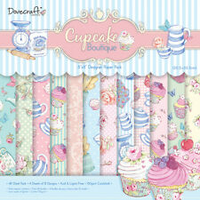 """Dovecraft Cupcake 8"""" X 8"""" Paquete de 48 hojas papel del forro álbumes de recortes elaboración de tarjetas"""