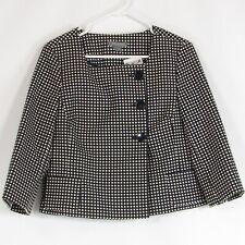 Navy blue white polka dot ANN TAYLOR blazer jacket 10P