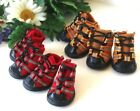 Dog Sneakers SET of 4 Shoes Boots Puppy Sports Reflective Strip for SMALL Dogs