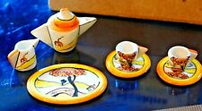 More details for dolls house 1/12 scale clarice cliff style, art deco tea set by sally meekins