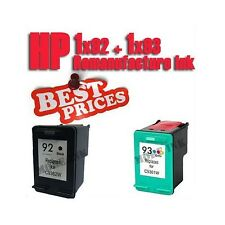 2pk Ink Cartridge for HP 92 93 PhotoSmart C3180 Printer