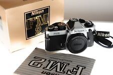 Nikon FM2n silver manual Pro grade SLR. Fantastic MINT boxed condition. Unused?