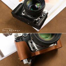 Handmade Genuine Real Leather Half Camera Leather Case Bag Cover For Nikon DF