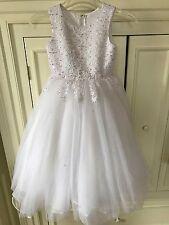 CHRISTIE HELENE Girls First Communion White Dress Size 5