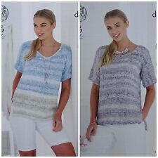 Knitting Pattern Femmes Court Manche Chute Rond Ou v-cou Vogue DK 4767