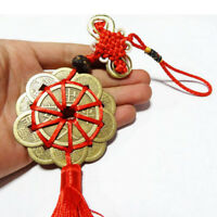 Red Rope Feng Shui Chinese Knot Hanging Tassel Wealth Good Luck Prosperity Coin