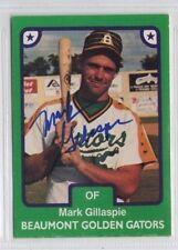 Mark Gillaspie 1984 TCMA Beaumont Golden Gators signed auto autographed card