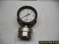 "4-1/2"" Process Pressure Gauge, 0 to 30 psi, 1/2"" FNPT, 1X850 / C, 0-30PSI, 316SS"