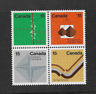 1972 CANADA - EARTH SCIENCES - BLOCK OF FOUR - MNH.