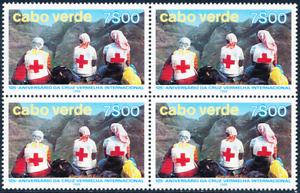Cabo Verde - 1988 - 125th Anniversary of Red Cross Movement  / BL 4