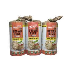 3x Munch Rite Brown Rice Cakes Himalayan Salt Vegan NO GMO Gluten Preservative