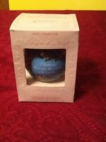 Vintage Hallmark Glass Christmas Tree Ornament Mary Hamilton 1981
