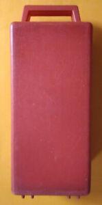 Valigetta Porta Musicassette Plastica Rossa 12 Posti Usata Originale Vintage Box