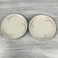 Lot Of 2 Franciscan Porcelain Snow Pine Dinner Plate Gladding Mcbean Co. Japan