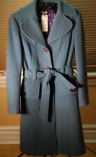 Dolce and Gabbana Wool Coat Turquoise Color Size 38 US 2-4