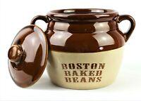 BOSTON BEAN POT The Pot Shop Double Handles 2.5 Quart Brown Glazed Stoneware USA