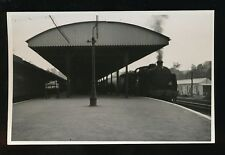 Railway Hampshire ANDOVER station loco #31620 with train 1959 photo plain back