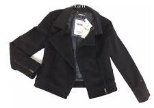 RRP £275 BNWT Tommy Hilfiger Wool Grey Women's Biker Jacket ,Size S,8 UK