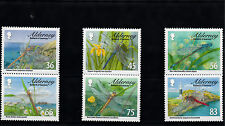 Alderney 2010 MNH Dragonflies 6v Set Insects Damselflies Dragonfly Stamps