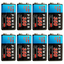 8 x 9V Volt 350mAh PP3 NiMH Rechargeable Battery 17R8H Power