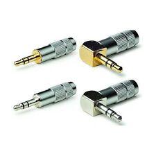 Oyaide P-3.5SR Straight Rhodium Plated 3.5mm Mini Jack Plug