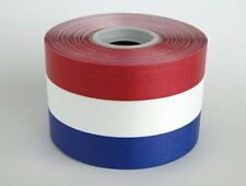 "2 3/4"" Wide RED/WHITE/BLUE Ceremonial Ribbon for Grand Opening 50 Yard Roll"
