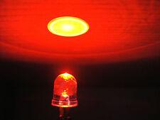 100x Super Bright 10000MCD 8mm 3V-6V-9V12v Red Water Clear Pre-Wired car Led,8RL