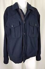 Mens Polo Jeans Ralph Lauren Type E Wool Military Field Jacket Peacoat Navy L RL