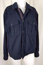 Mens Polo Jeans Ralph Lauren Type E Wool Military Field Jacket Peacoat Navy L RL