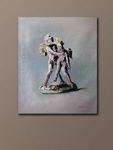 """Repro oil painting on canvas abstract figures statue 26""""x32"""""""