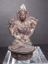 Hindu Bronze figure Chola - Javanese style seated figure