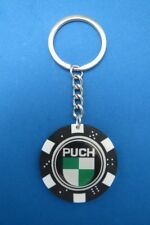 PUCH MOTORCYCLE LOGO POKER CHIP DICE KEYRING KEY RING CHAIN #209