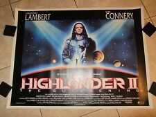 Highlander II movie poster - Christopher Lambert, Sean Connery - 30 x 40 inches