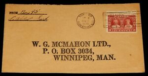 Vintage Cover, CANADA POSTAL HISTORY, Yorkton, Saskatchewan, 1935,Silver Jubilee