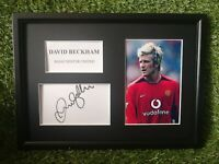 David Beckham (Manchester United) PRINTED SIGNED AUTO A4 PHOTO MOUNT - PRINT