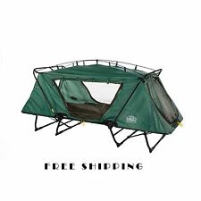 Camping Cot Tent Folding Portable Outdoor Bed Oversize Rainfly Sleeping Bag Chai