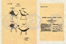 BERTOIA/KNOLL CHAIR PATENT-Mid Century Modern '53 #793a
