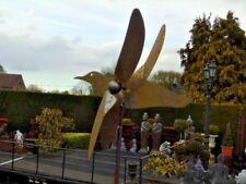 girouette ou éolienne oiseau en fer forgé, tourne avec le vent , superbe ...