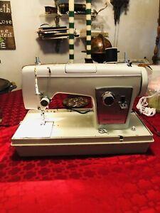 HEAVY DUTY Sears Kenmore Sewing Machine 158 Series Works Sews Sold 4Parts Repair