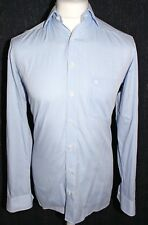 OLYMP LUXOR Mens Blue Check Long Sleeved Shirt Size 14.5 - 37