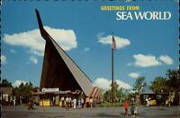 Greetings from Sea World San Diego California ~ 1975 vintage postcard