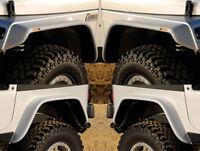 "87-95 Jeep Wrangler YJ Xenon 6"" Urethane Flat Panel Fender Flares 4pc Kit 9080"